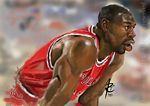 Caricatura NBA de Michael Jordan por Arimations