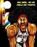 Caricatura NBA de Ben Wallace por Caye