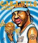 Caricatura NBA de Carmelo Anthony por Caye