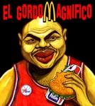 Caricatura NBA de Charles Barkley por Caye