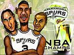 Caricatura NBA de Manu Ginóbili por Caye