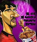 Caricatura NBA de Jorge Garbajosa por Caye