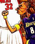 Caricatura NBA de Kobe Bryant por Caye