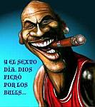 Caricatura NBA de Michael Jordan por Caye