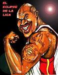 Caricatura NBA de Shaquille O'Neal por Caye