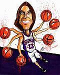 Caricatura NBA de Steve Nash por Caye