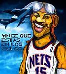 Caricatura NBA de Vince Carter por Caye