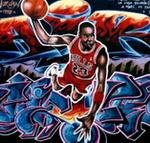 Caricatura NBA de Michael Jordan por Chile