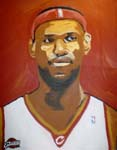 Caricatura NBA de LeBron James por DH Randi