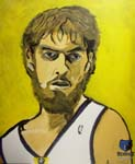 Caricatura NBA de Pau Gasol por DH Randi