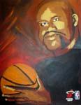Caricatura NBA de Shaquille O'Neal por DH Randi