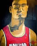 Caricatura NBA de Yao Ming por DH Randi