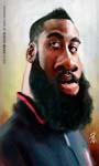 Caricatura NBA de James Harden por David Duque