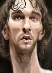Caricatura NBA de Pau Gasol por David Duque
