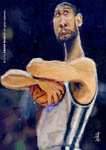 Caricatura NBA de Tim Duncan por David Duque