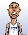 Caricatura NBA de Brandon Roy por Greg Halbert
