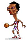 Caricatura NBA de Chris Bosh por Greg Halbert