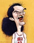 Caricatura NBA de Joakim Noah por Greg Halbert