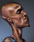 Caricatura NBA de Kevin Garnett por Greg Halbert