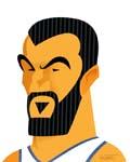 Caricatura NBA de Nikola Pekovic por Greg Halbert