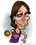 Caricatura NBA de Steve Nash por Greg Halbert