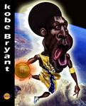 Caricatura NBA de Kobe Bryant por Ignacio Fundarena