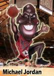 Caricatura NBA de Michael Jordan por Ignacio Fundarena