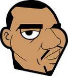 Caricatura NBA de Kenyon Martin por JoeNetsFan