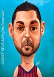 Caricatura NBA de Juan Carlos Navarro por Josep Sol�