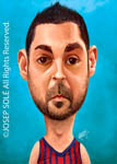 Caricatura NBA de Juan Carlos Navarro por Josep Solé