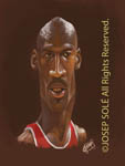 Caricatura NBA de Michael Jordan por Josep Sol�