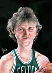 Caricatura NBA de Larry Bird por Marcos Torres