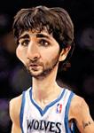 Caricatura NBA de Ricky Rubio por Marcos Torres