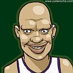 Caricatura NBA de Charlie Villanueva por Yurie Rocha