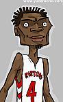 Caricatura NBA de Chris Bosh por Yurie Rocha