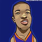 Caricatura NBA de Fred Jones por Yurie Rocha