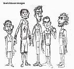 Caricatura NBA de Jorge Garbajosa por Yurie Rocha