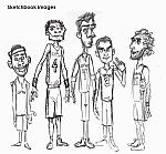 Caricatura NBA de José Manuel Calderón por Yurie Rocha