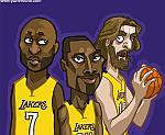 Caricatura NBA de Lamar Odom por Yurie Rocha