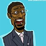Caricatura NBA de Sam Mitchell por Yurie Rocha