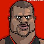 Caricatura NBA de Shaquille O'Neal por Yurie Rocha
