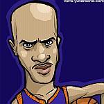 Caricatura NBA de Stephon Marbury por Yurie Rocha