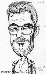 Caricatura NBA de Phil Jackson por Armand Escandell