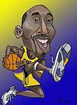 Caricatura NBA de Kobe Bryant por Bergé