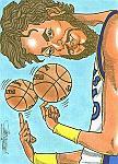 Caricatura NBA de Pau Gasol por Bergé