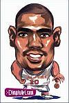 Caricatura NBA de Allan Houston por DimpleArt