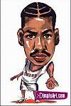Caricatura NBA de Allen Iverson por DimpleArt