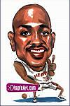 Caricatura NBA de Alonzo Mourning por DimpleArt