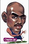 Caricatura NBA de Chris Webber por DimpleArt