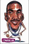 Caricatura NBA de Eddie Jones por DimpleArt
